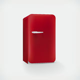 Vector red refrigerator Royalty Free Stock Image