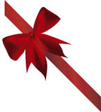 Vector red ribbon Stock Photography