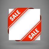 Vector red sale corner ribbons Stock Photography