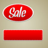 Vector Red sale stitched label Stock Image