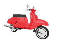 Vector red scooter Royalty Free Stock Image
