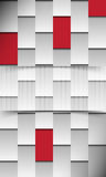 Vector Red seamless chrome futuristic background Stock Image