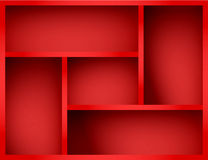 Vector red shelf Stock Image