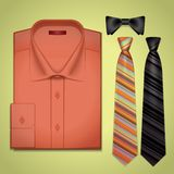 Vector red shirt with a tie Stock Photos
