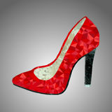 Vector red shoe Royalty Free Stock Photography