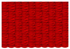 Vector red silk curtain Stock Photography