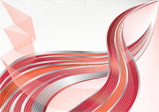 Vector red and silver background Royalty Free Stock Photos