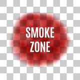Vector Red Smoke for Use on Light Background Stock Images