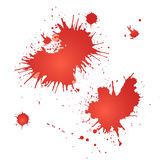 Vector red splashes Stock Photos