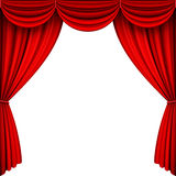 Vector Red Stage Curtains. A vector illustrations of Red Full Stage Curtains Royalty Free Stock Photo