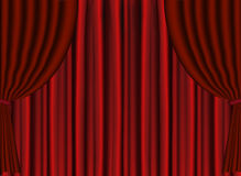 Vector Red Stage Theater Drape Stock Images