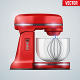 Vector Red Stand Mixer Stock Image