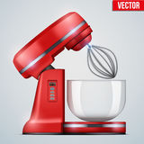 Vector Red Stand Mixer Stock Images