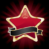 Vector red star Stock Image