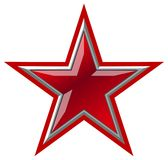 Vector Red Star Royalty Free Stock Image