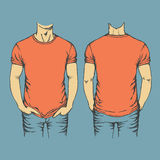 Vector red t-shirt template Stock Photography