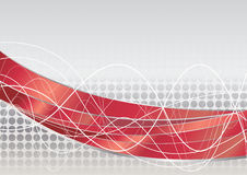Vector red tech background. Clip-art Royalty Free Stock Photo