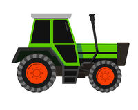 Vector red tractor illustration Royalty Free Stock Photography