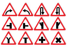 Vector red  traffic sign isolated on white background.  Stock Image