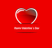 Vector red valentine heart Royalty Free Stock Photography