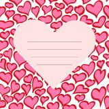 Vector red Valentine s Day Card Stock Photography