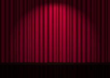 Vector red velvet curtain Royalty Free Stock Photography
