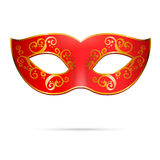 Vector red venetian carnival mardi gras party mask Stock Photo