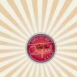Vector red vintage banner Royalty Free Stock Photo