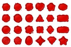Free Vector Red Wax Seal Stamps Set Royalty Free Stock Image - 126634426