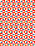 Vector Red White and Blue Star Background Royalty Free Stock Photos