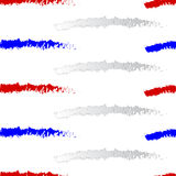 Vector red white and blue Stripes seamless pattern Stock Photos