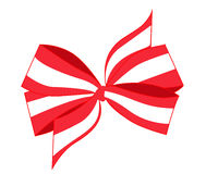 Vector of Red and White Bow Royalty Free Stock Photo