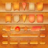 Vector reeks banners en etiketmarkeringen voor Web Stock Afbeeldingen