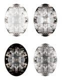 Vector reeks diamanten Stock Foto's