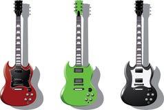 Vector reeks. Elektrische gitaren vector illustratie