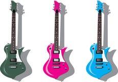 Vector reeks. Elektrische gitaren Royalty-vrije Stock Foto
