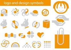 Vector reeks embleem en ontwerpsymbolen stock illustratie