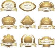 Vector reeks gouden ontwerpelementen Stock Afbeeldingen