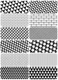 Vector reeks grafische patronen royalty-vrije illustratie