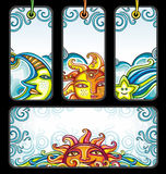 Vector reeks Hemelsymbolen Royalty-vrije Stock Afbeelding