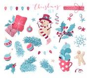 Vector reeks het ontwerpelementen van Kerstmis vector illustratie