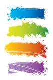 Vector reeks kleurenbanners Stock Afbeelding