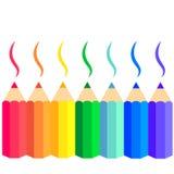 Vector reeks kleurpotloden Royalty-vrije Stock Foto