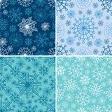 Vector reeks naadloze patronen van Kerstmis Stock Foto's