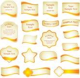 Vector reeks ontwerpelementen Royalty-vrije Stock Afbeeldingen