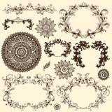 Vector reeks ontwerpelementen Stock Foto's