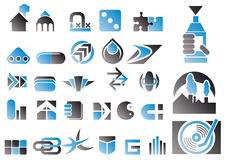 Vector reeks ontwerpsymbolen Stock Afbeeldingen