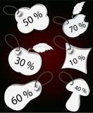 Vector etiketten Stock Afbeelding