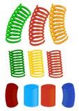 Vector reeks spiralen Stock Afbeelding