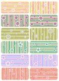 Vector reeks strookpatronen stock illustratie
